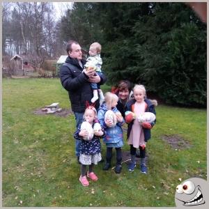Alla fyra barnbarnsbarn på besök i Sjöbo