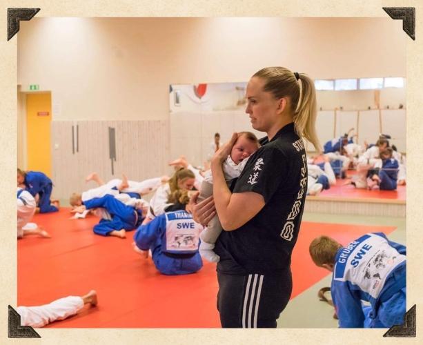 Jennie med Amanda på tränin
