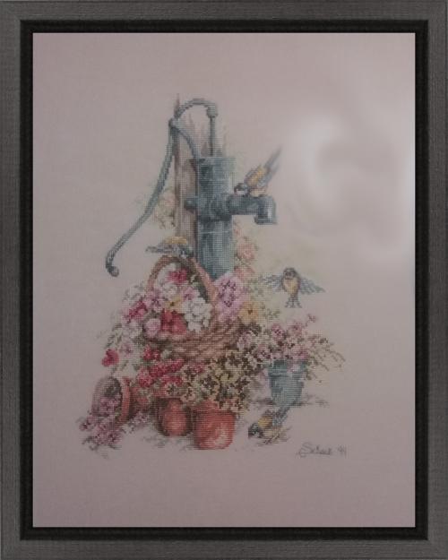 Pumpen och blommor