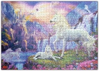 Christinas pussel-1000 bitar-hästar som hon lade under Coronatiden i hemkarantänen